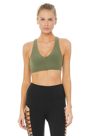 Alo Base Bra Jungle Green