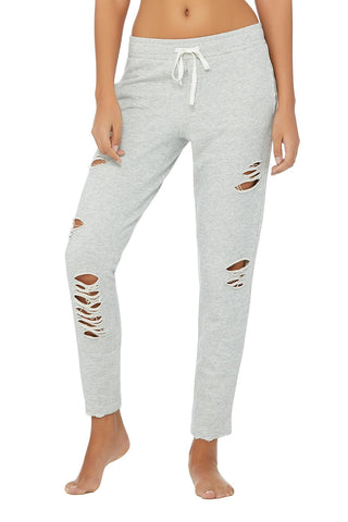 Alo Ripped Slouchy Sweatpants Grey
