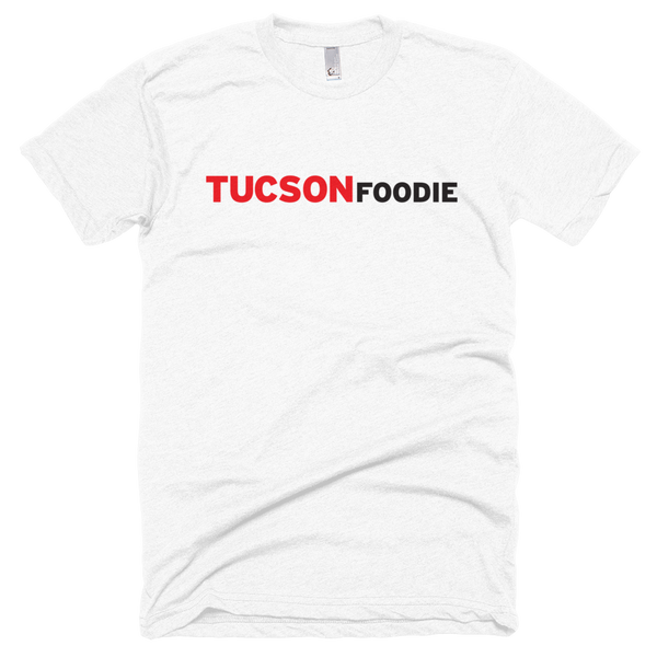 Horizontal Logo on White American Apparel T-Shirt