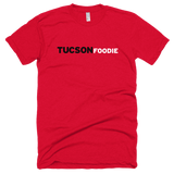 Horizontal Logo on Red American Apparel T-Shirt (2 Colors)