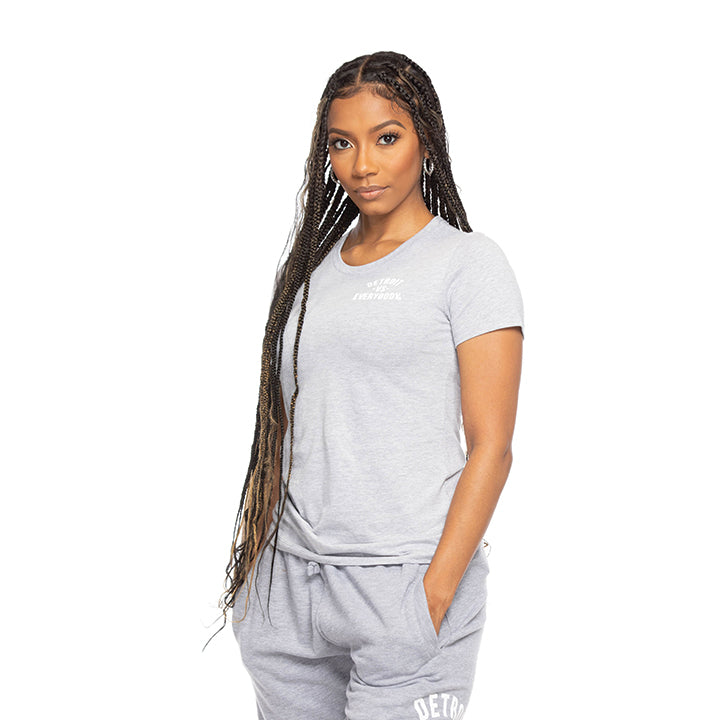 MEDIA GALLERY: dve evergreen grey women's cut tshirt
