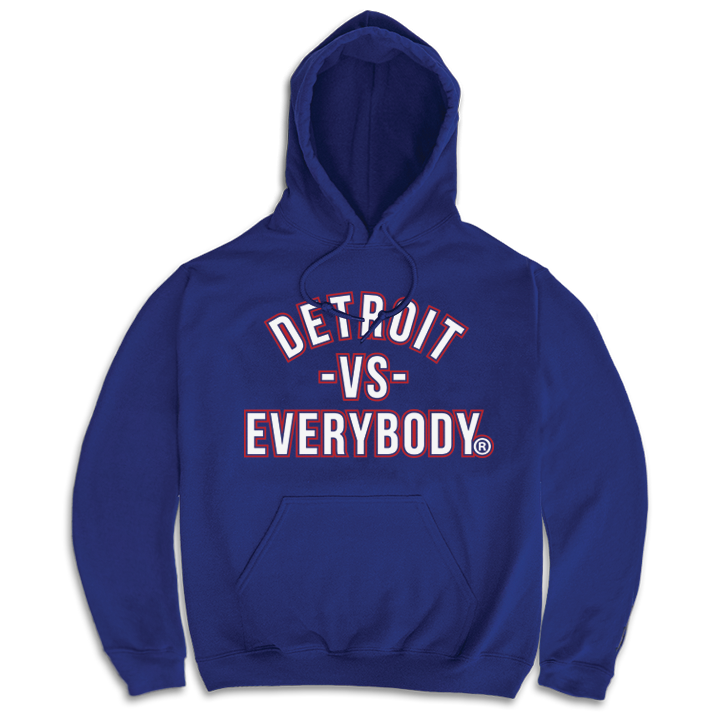 Blue White Red Outline Detroit Vs Everybody