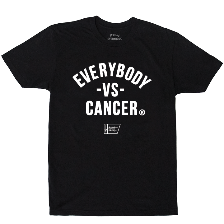 MEDIA GALLERY: everybody vs cancer black t-shirt (acs edition)