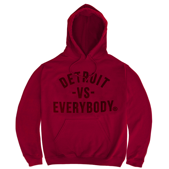 DVE Cranberry Red Hoodie