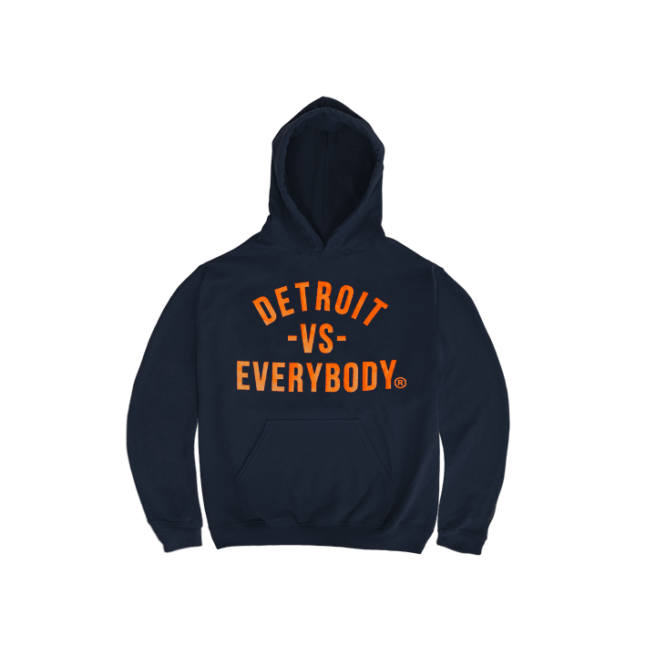 DVE Navy-Orange Kids Hoodie