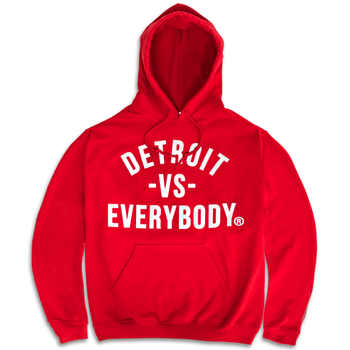 DVE Classic Red-White Hoodie