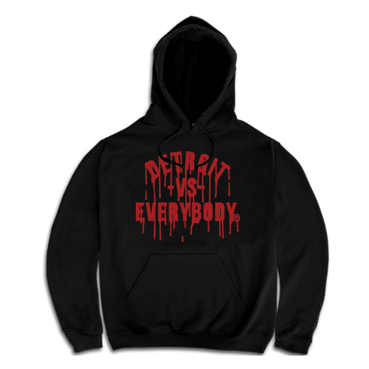 MEDIA GALLERY: blood drip detroit vs everybody hoodie