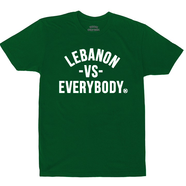 MEDIA GALLERY: 'lebanon vs everybody' tshirt (green)