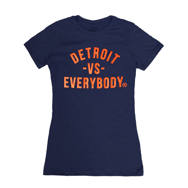 DVE Classic Womens Navy-Orange Tee
