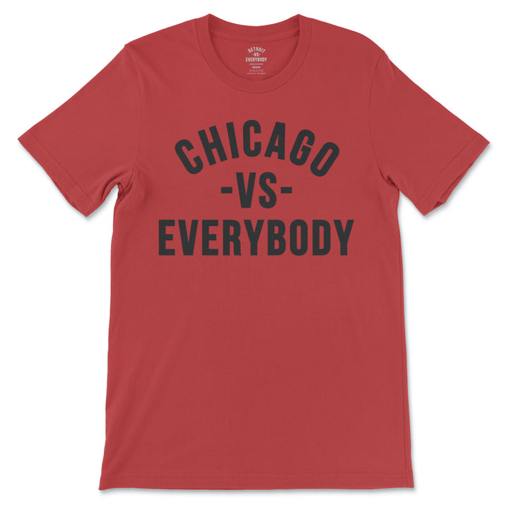 MEDIA GALLERY: chicago vs everybody tshirt (red - black)