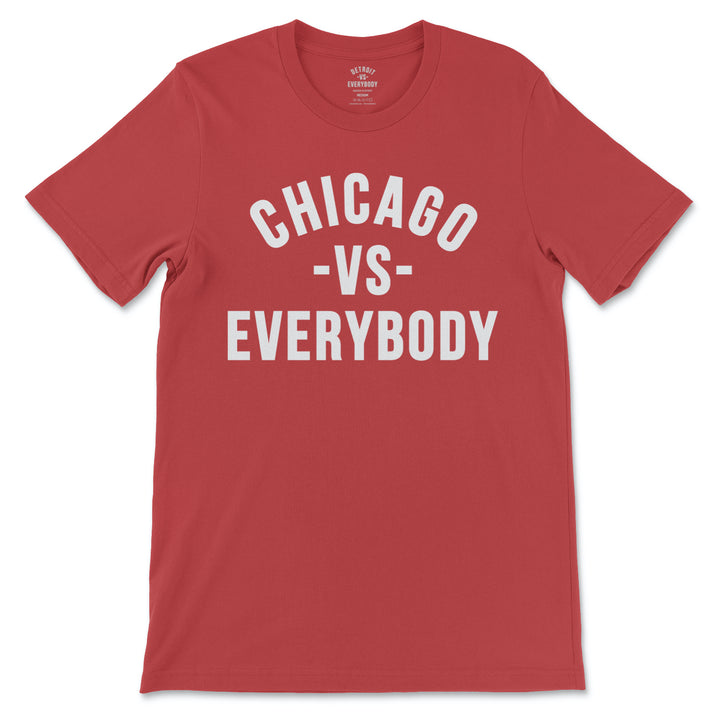 Chicago Vs Everybody Tshirt (Red - White)