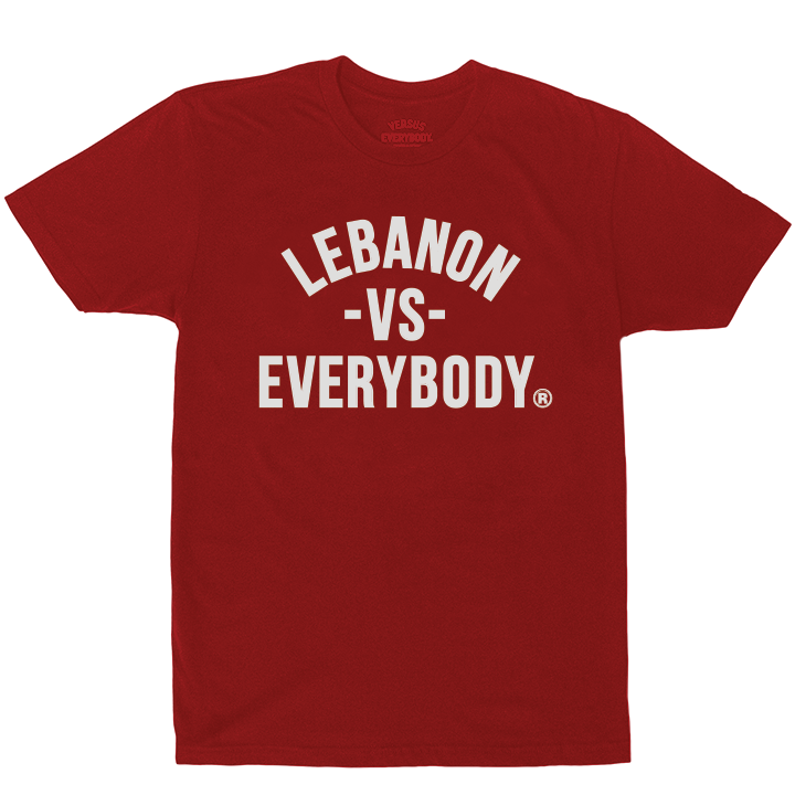 'Lebanon Vs Everybody' Tshirt (Red)