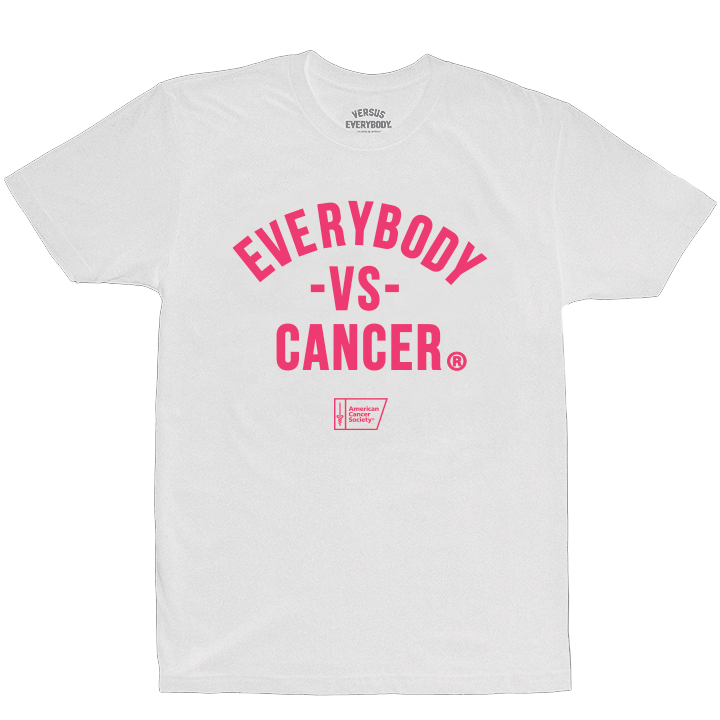 MEDIA GALLERY: everybody vs cancer white t-shirt (acs edition)
