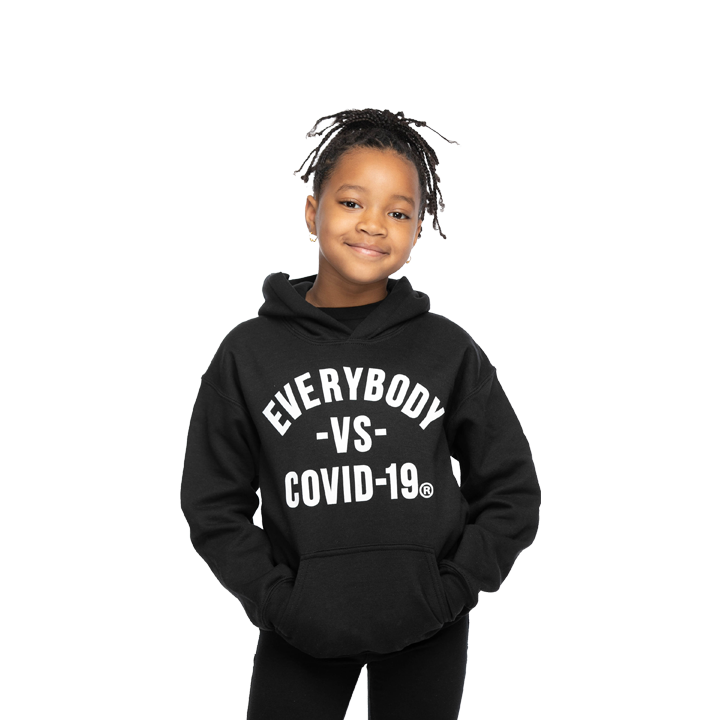 MEDIA GALLERY: everybody vs covid-19 kids unisex hoodie