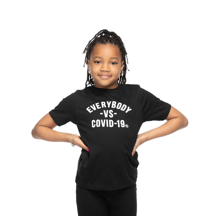 MEDIA GALLERY: everybody vs covid-19 kids unisex tee