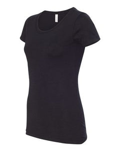 Women's Short Sleeve Scoop Neck Tee COURAGEOUS AND STRONG