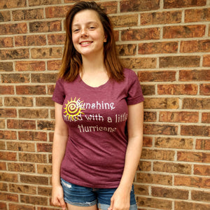Women's Long Sleeve Scoop Neck Tee SUNSHINE MIXED WITH A LITTLE HURRICANE