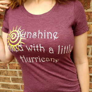 Women's Short Sleeve V-Neck Tee SUNSHINE MIXED WITH A LITTLE HURRICANE