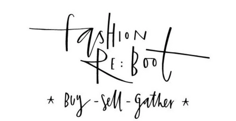 Logo of the Fashion Reboot event in Tunbridge Wells, a place to share your love for preloved clothes, sustainable made clothes and a night out with your girl gang, organised in collaboration with Mums the Word