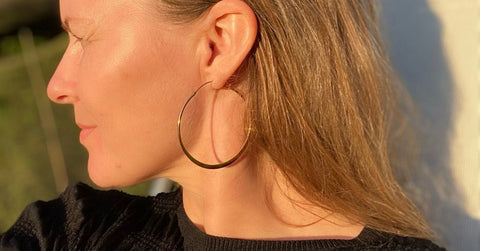 Image of the perfect hoops sold by RAW Copenhagen of which £10 from each sale is donated to charity