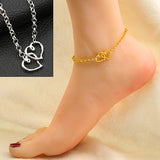 Double Love Ankle Bracelet