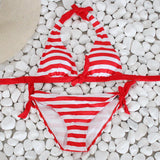 Striped 2 Piece Bikini