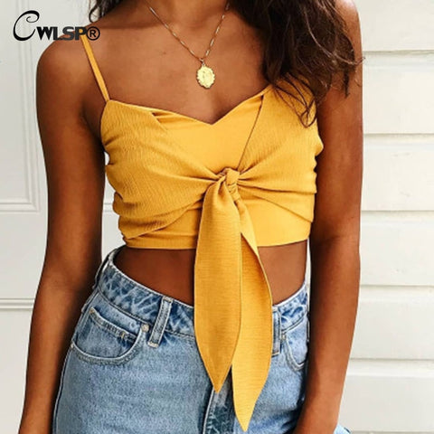 Crop Top With Bowtie