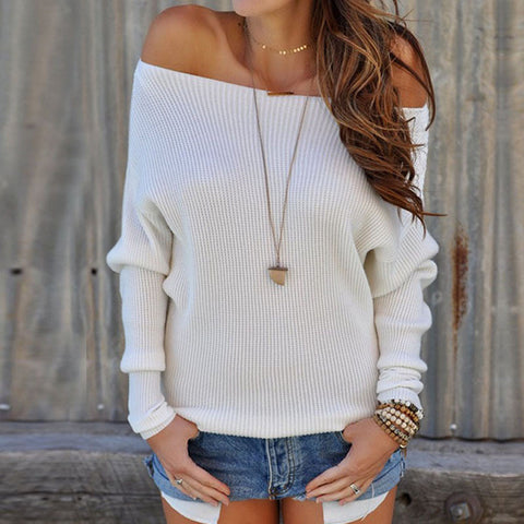 Long Sleeve Off Shoulder Shirt