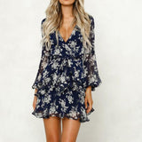 Long Sleeve Floral Romper
