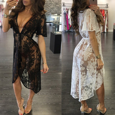 Floral Lace Cover Ups