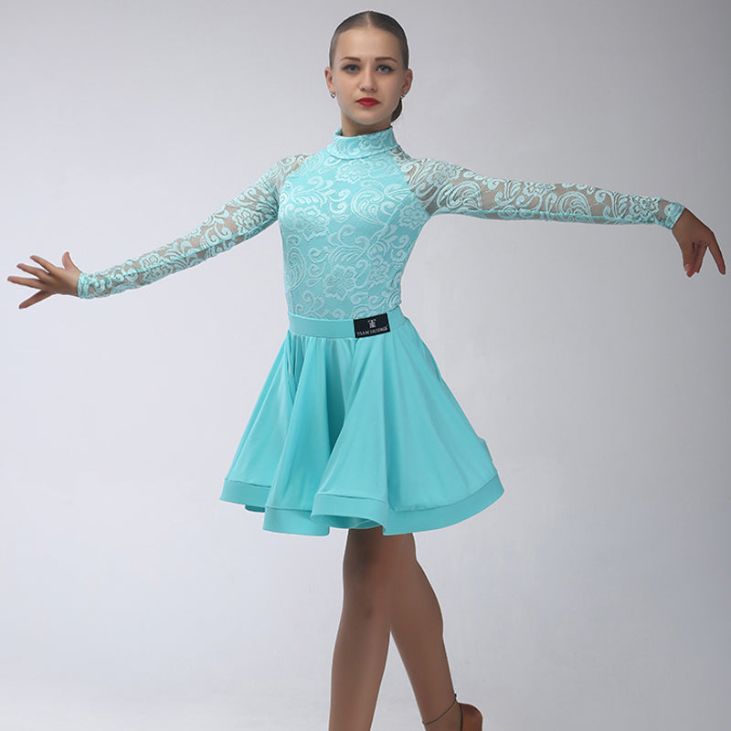 b4c498aab180 ... Junior/Juvenile Girls Latin Salsa Ballroom Dance Dress Girls Dancewear  top & skirt / Latin ...