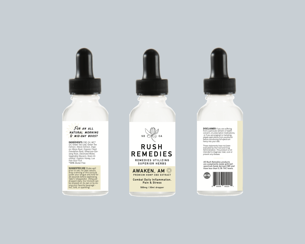 Rush Remedies Awaken AM CBD Tincture
