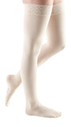 mediven comfort, 30-40 mmHg, Thigh High with Lace Top-Band, Closed Toe