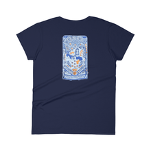 moe. - 2018 Date Back Blue Ladies T-Shirt
