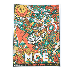 moe. - April 24 2018 - Montclair, NJ Poster