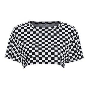 c0f1ecb71d7 Checkered Crop Top – Rave Fest Life