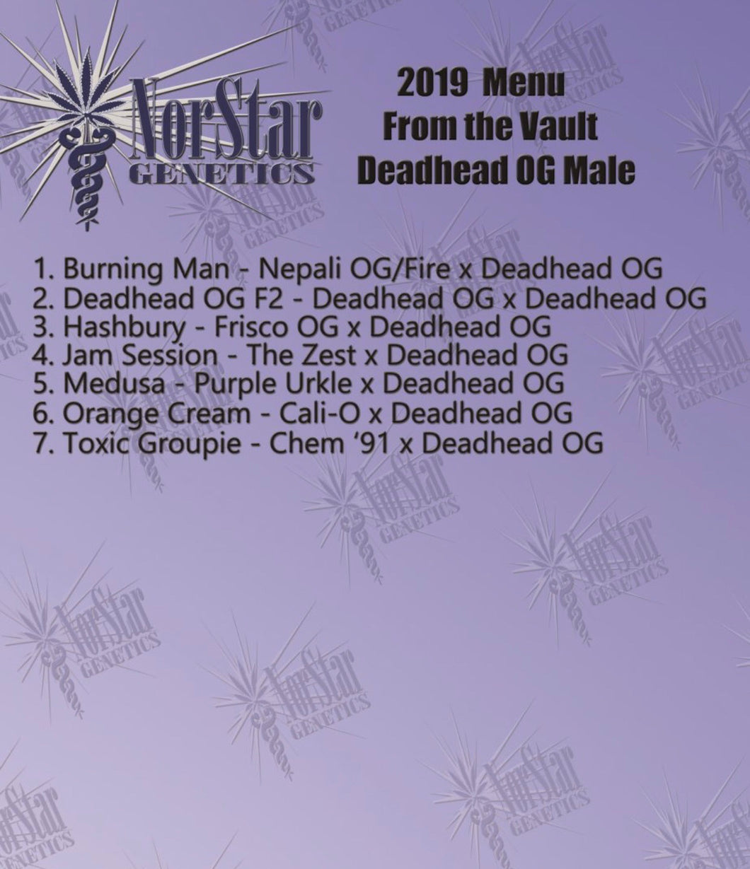 From the Vault Deadhead OG male crosses