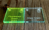 Acrylic Blanks  - Glass Green