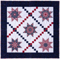 Patriot Star Quilt Pattern + Star Point Template Bundle