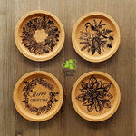 Christmas Cork Coaster Set