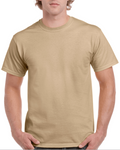 Gildan Cotton T-Shirt, Tan Color - Used