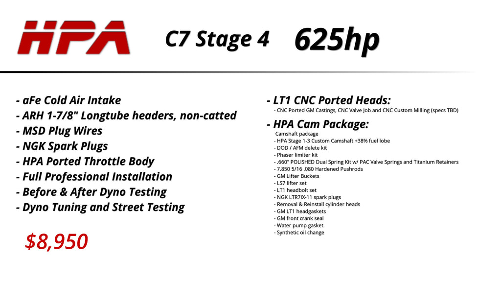 C7 LT1 Packages (Naturally Aspirated) – Horsepower Addicts