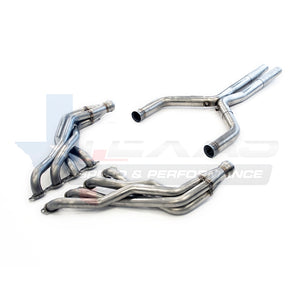 "Camaro SS TSP 1-7/8"" Long Tube Headers & 3"" X-Pipe, (catted)"