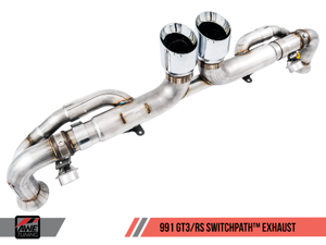 AWE Tuning Porsche 991 GT3 / RS SwitchPath Exhaust - Chrome Silver Tips