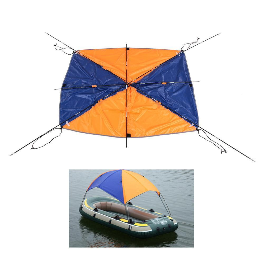 2-4 Person Kayak Boat Sun Shelter Top Cover Sun Shade