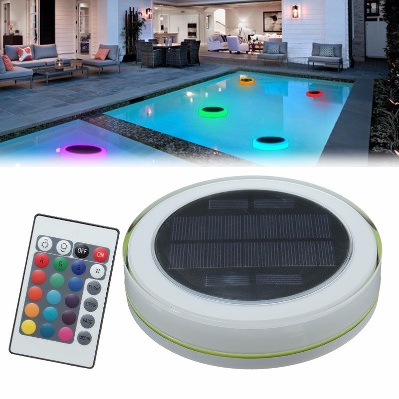 Floating Decorative Solar Power LED Light With Remote Control