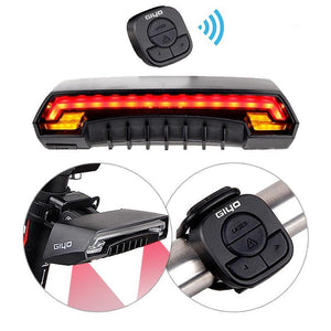 Bicycle Wireless Remote Control Laser Rear Light with Turn Signal