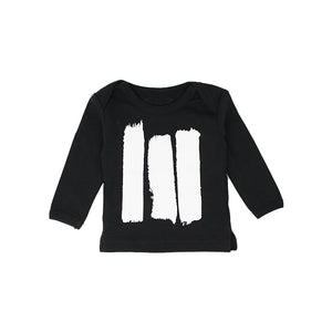 Black Brush Strokes Long Sleeve Tee