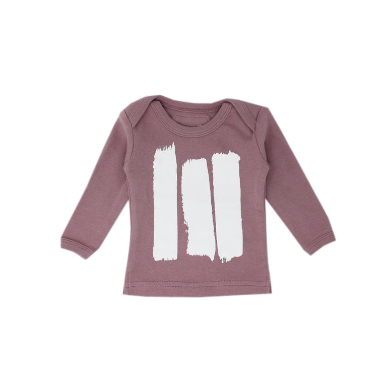 Lavender Brush Strokes Long Sleeve Tee