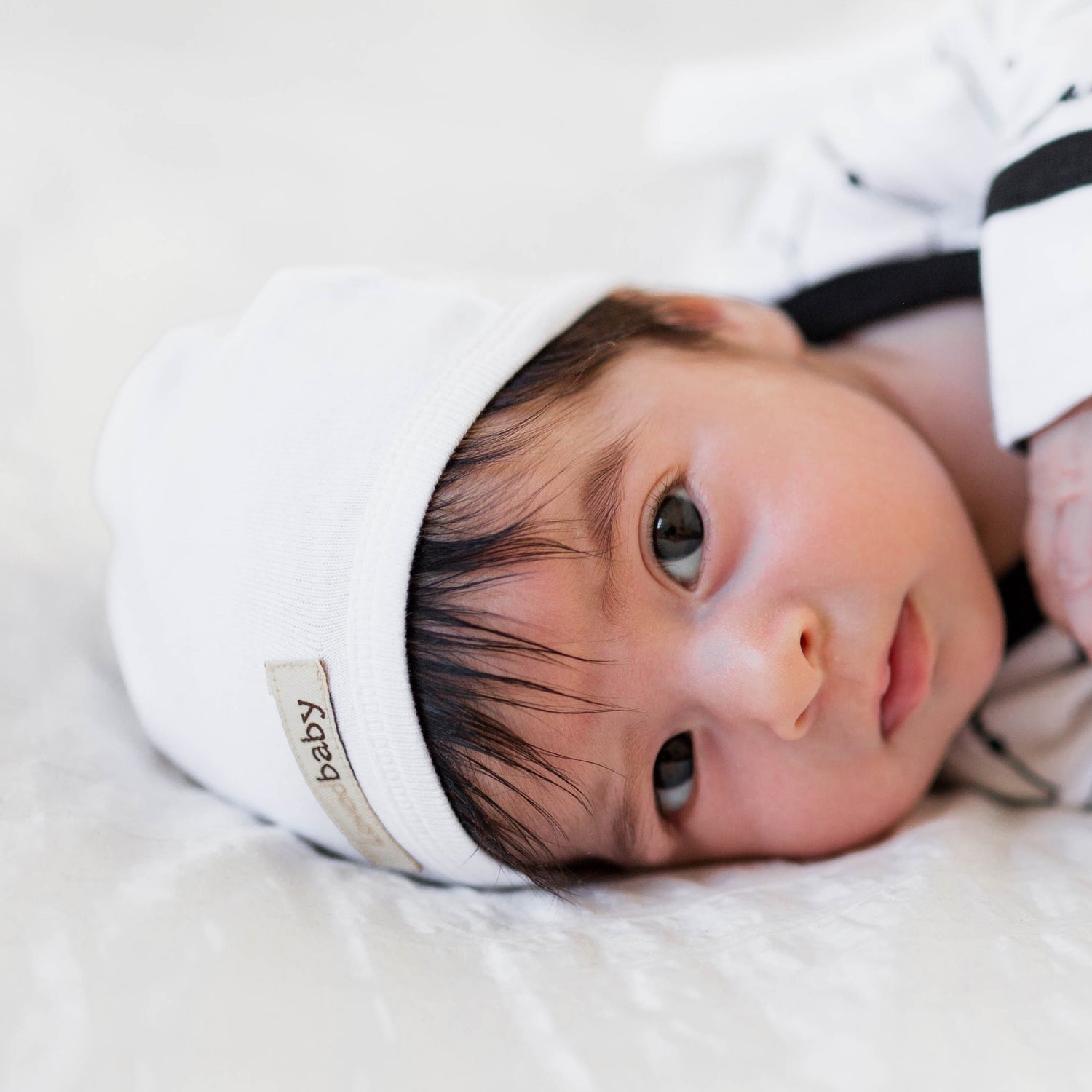 White Organic Cute Cap